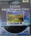 HOYA Pro1 Digital DMC Filter Circular PL 58mm für Digitale Kameras schwarz NEU
