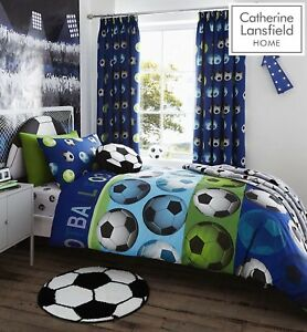Catherine Lansfield Football Blue Duvet/Cover Fitted/Sheet Range Blue