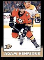 2020-21 UD O-Pee-Chee Retro Black Border #375 Adam Henrique /100 - Anaheim Ducks