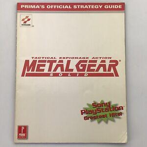 Metal Gear Solid Prima Strategy Guide Walkthrough By Elizabeth Hollinger 1999