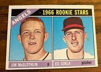 1966 Topps #417 Jim McGlothlin/ Ed Sukla RC - Angels