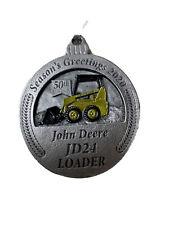 John Deere OEM 2019 Pewter Christmas Ornament PMDCO2019