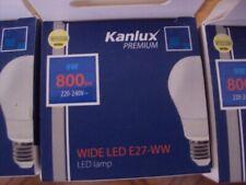 kanlux 9w gls es(e27) wide led (ww) 800lm,job lot of 4