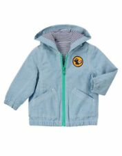 Gymboree Little Skunk chambray zip jacket size 6-12 months Nwt