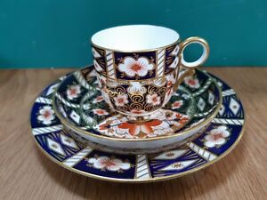 A Royal Crown Derby Tea/Coffee Trio in the Imari 2451 Pattern - 1897