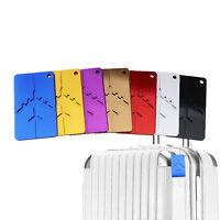 7pcs Aluminium Travel Luggage Baggage Tag Suitcase Identity Address Name Label
