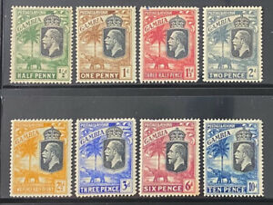 GAMBIA  Beautiful  Mint Light Hinged GEORGE V Group
