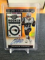 DAMIEN HARRIS 2019 Contenders Optic ORANGE Rookie Ticket AUTO /50 - Patriots RC