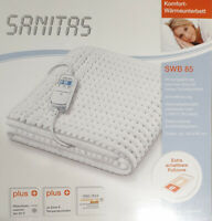 SANITAS SWB85 Wärmeunterbett mit 9 Temperaturstufen Heizdecke 150x80cm SWB 85