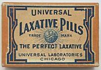 Vintage Universal Perfect Laxative Pill Cardboard Box Laboratories Chicago Empty