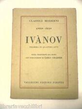 IVANOV Anton Cecov Vallecchi 1923 Carlo Grabher libro teatro Russia saggistica