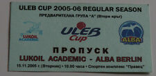 old TICKET Basketball ULEB Cup * Lukoil Sofia Bulgaria Alba Berlin Germany