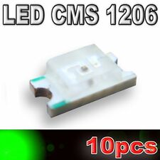 102/10# LED CMS 1206 vert -500mcd -SMD green - 10pcs