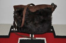 Ralph Lauren Lamb Shearling Fur & Leather Shoulder Messenger Bag