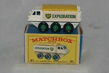 Matchbox #61B Alvis Stalwar, White, Green wheels, Decals, Nice, Boxed Type E