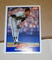 JOHN SMOLTZ~HARD-TO-FIND (POP 253) 1989 SCORE  GEM-MT ROOKIE RC CARD #616