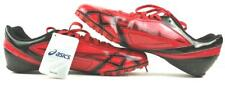 Asics Hypersprint 4 Men's 10.5 Red Black track field sprint shoes NWT  NO SPIKES