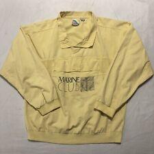 Vintage Surf Gear Long Sleeve Shirt Marine Club Yacht Yellow Size Medium