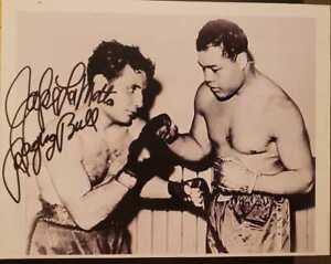 JAKE LAMOTTA Photograph Auto Boxing AUTOGRAPH RAGING BULL