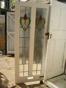 Reclaimed 1920s / 1930s stained glass front door