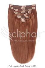 Extensiones de pelo de pelo castaño
