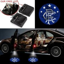 1pr Glasgow Rangers Car Door Wireless Projector Welcome Light Logo Shadow Emblem