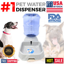 Automatic Pet Water Dispenser Feeder Puppy Dish Waterer Feeding Bowl Dog Gray