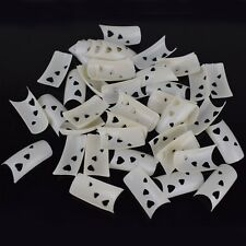 500 Stück French Tips Weiß Herz Ausschnitt Kunstnägel Künstliche Fingernägel
