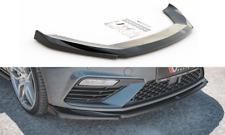 CUP Spoilerlippe SCHWARZ für Seat Leon MK3 Cupra FR FL Frontspoiler Schwert V5