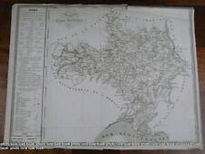 Département du Gard Atlas national 1833 Rare grande carte décorative 50 x 38 cm