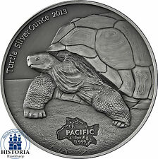 Serie del Pacifico-Tokelau 5 DOLLARO ARGENTO 2013 antique finish TURTLE SILVER Ounce