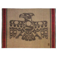 Northwest Coast Native American Wool Blend Blanket