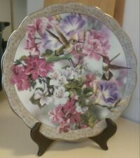 "Bradford Exchange Whispering Wings ""Morning Glory"" Numbered Collector Plate"