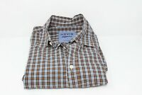 Mens Orvis Surfwashed Button Down Shirt Long Sleeve Plaid Checked Size Large