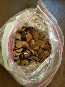 Copper pennies 10lbs Circulated