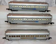 3 SUPER CLEAN 1953 American Flyer 655 Silver Bullet Passenger cars set 5306T S