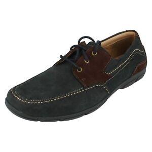 Uomo Clarks Leather Scarpe con Lacci Chiusura Bay