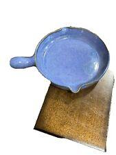 WJ Gordy Pottery Skillet Blue Green