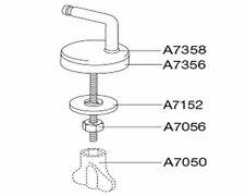 Pressalit Scharniersatz zu WC Sitz 3000 oder Scandinavia 75 Edelstahl Typ UN3