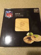 Brie NFL Baltimore Ravens Engraved Tailgate Cheese Board Set and Tools
