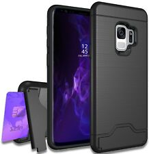 (2x) Samsung Galaxy S9 Plus Case Bonus Card Holder/Wallet and Kickstand