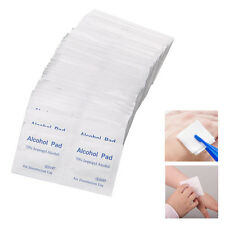 100 Pcs Alcohol Wipe Pad Medical Swab Sachet Antibacterial Tool Cleanser New
