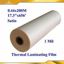 "17.3""X656' Satin/Matte/Falt UV Hot Luster Thermal Laminating Film Printing Shop"
