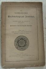 Vintage Buch 1901 Yorkshire Archaeological Journal 62 ingleby Arncliffe Geschichte