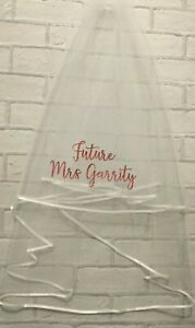 Personalised Hen Party Veil Glitter Bride To Be Future Mrs Any Name Party Gift