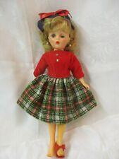 1950's Eegee Little Miss Debutante original wool dress Panties Pearl Earrings