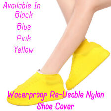 NYLON WATER PROOF, NON-SLIP & RE-USABLE SHOE COVER FOR WOMEN CYCLING SHOE YELLOW