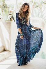 Spell Gypsy Collective Kiss The Sky Maxi Gown Bluejay S Super Rare HTF unicorn