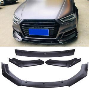 For Audi S3 S4 A4 A5 A6 A7 B7 B8 C6 Front Bumper Lip Splitter Spoiler Chin Black