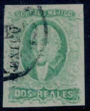 ab05 Mexico #3b 2R Plate 1 Emerald Mexico Scarce w/ the district VF, Est $40-60